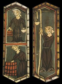La techumbre de la Catedral de Teruel. Mujeres trabajando