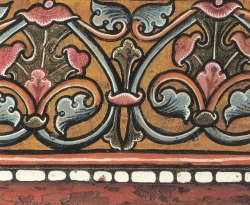 La techumbre de la Catedral de Teruel. Ornamentación vegetal