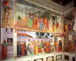 Massaccio: Iglesia del Carmine, Capilla Brancacci. 1424-1425. Florencia