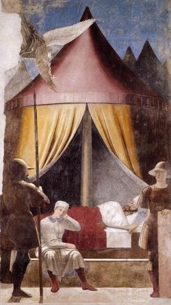 Piero della Francesca: Sueño de Constantino. 1455. Arezzo, Iglesia de San Francesco