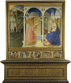 Fra Angelico: Anunciación. 1430-1435. Madrid. Museo del Prado