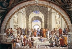 Rafael de Sanzio: La Escuela de Atenas. 1512. Roma. Estancias del Vaticano