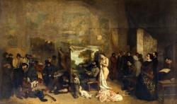 Gustave Courbet: El estudio del pintor. 1855. Musée d'Orsay, Paris