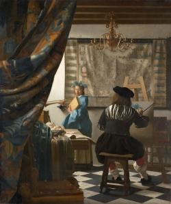Jan Vermeer: El taller del pintor. Viena, Museo de Historia del Arte