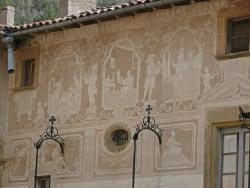 Esgrafiados casa Mas Ferrer. Mitad siglo XVIII. Sant Sadurní d'Osormort
