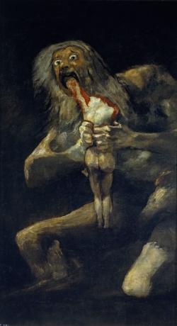 Francisco de Goya: Saturno devorando a su hijo. 1819. Madrid. Museo del Prado