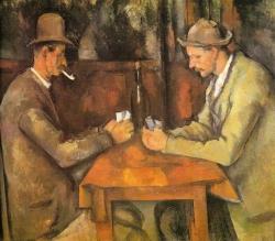 Paul Cézanne: Jugadores de cartas. París. Museé d'Orsay (Jeu de Paume)