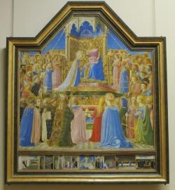 Fra Angelico: Coronación de la Virgen. Museo del Louvre. Hacia 1435