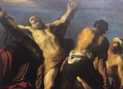 """Anónimo: """"El martirio de San Andrés"""". Finales siglo XVII. Lérida. Museo Diocesano."""
