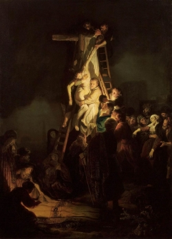 Rembrabdt: Descendimiento de Cristo. c. 1634. State Hermitage Museum, Saint Petersburg, Russia