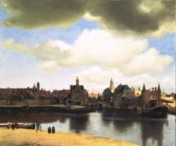 Jan Vermeer: Vista de Delft. 1660-61. Mauritshuis, La Haya