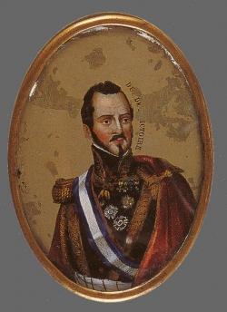 Retrato miniatura del general Espartero