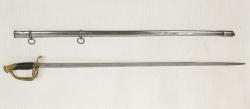 Espada-sable para oficial de las Reales Guardias Valonas del general Espartero