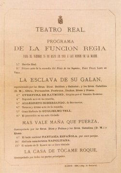 Programa del Teatro Real