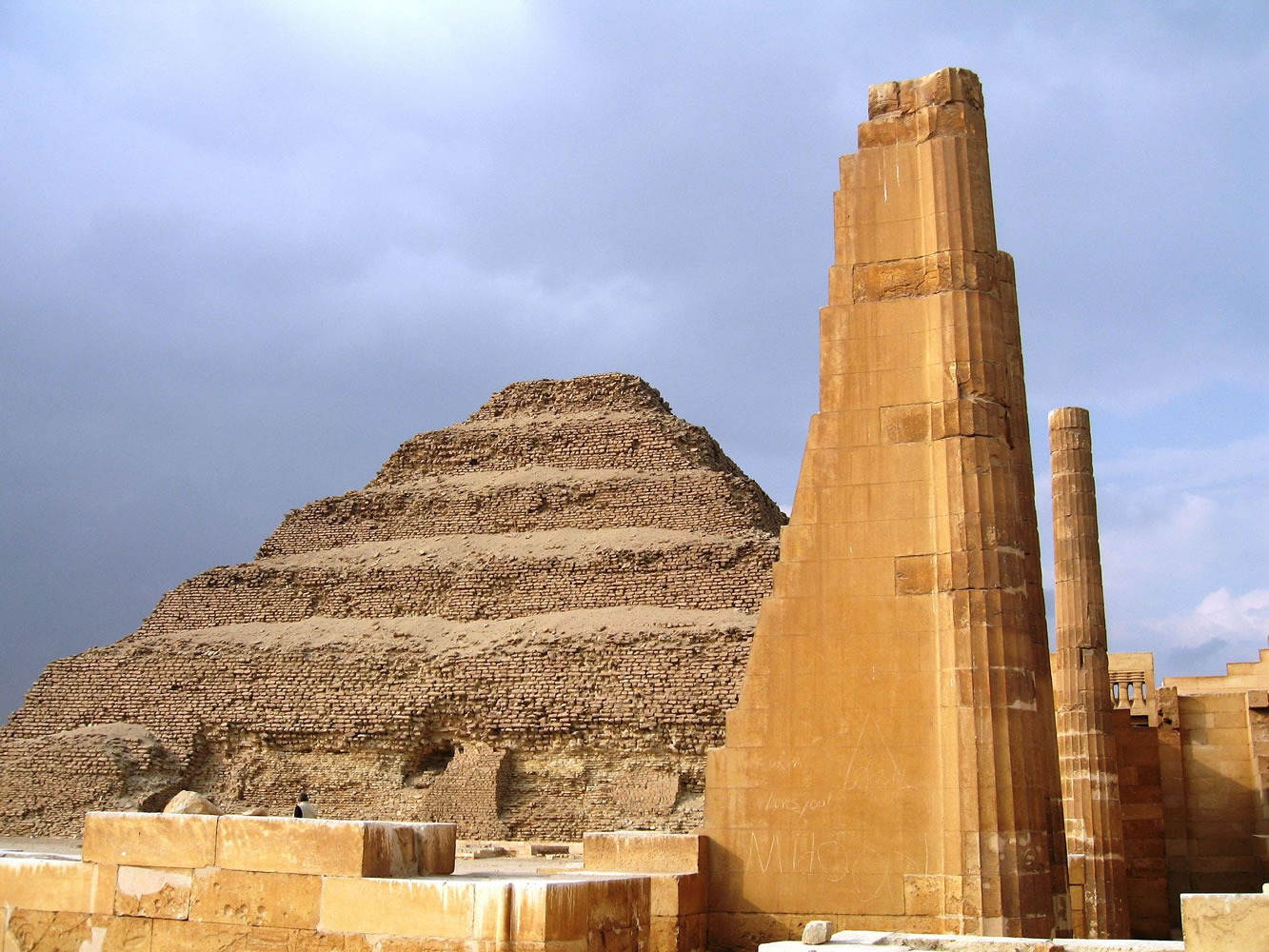 The step pyramid precint of King Djoser