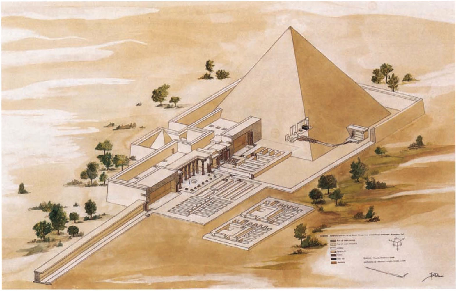 Pyramids and their temples