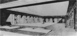 Fig. 20. Reconstruction of court, pyramid temple of Khafre, Giza