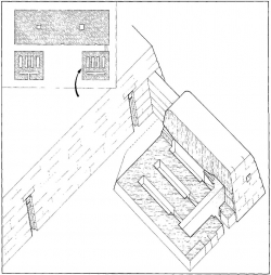 Fig. 25. Reconstruction of serdab in front of mastaba of Ba-baef, Giza