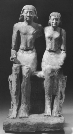 Fig. 44. Pair Statue of Ima-Pepi and His Wife Seate