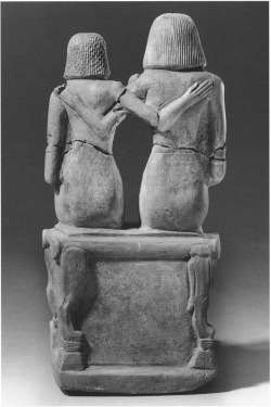 Fig. 45. Pair Statue of Ima-Pepi and His Wife Seated