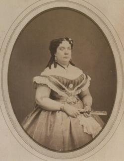 PEDRO MARTÍNEZ DE HERBET. Retrato de Isabel II, ca. 1865