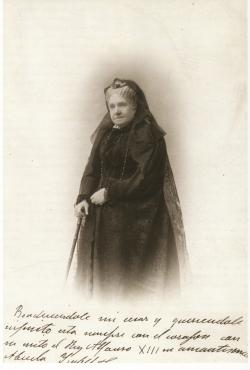 MARIUS NEYROUD. Retrato de Isabel II, 1902