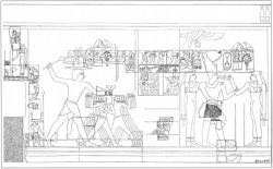 Fig. 56. Wall relief, pyramid temple of Pepi II, Saqqara