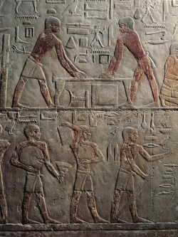 Fig. 71. Wall relief from mastaba of Ti
