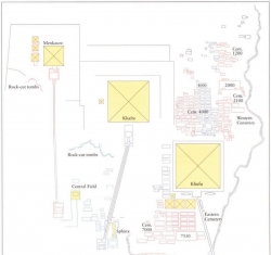 Fig. 80. Overview map of the Giza necropolis