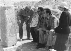 Fig. 99. From left to right, Said Tawfik, Gaballa Ali Gaballa, Ali Radwan, and Tohfa Handussa