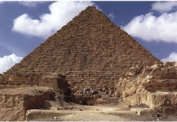 The pyramid of Khufu seen from the Western Cemetery, Giza