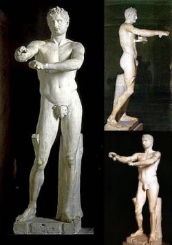 Lisipo: Apoxiomeno. Finales siglo IV a.C. Roma