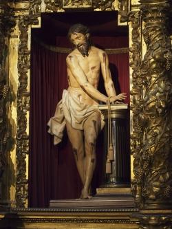 Gregorio Fernández: Cristo atado a la columna. 1615-1619. Iglesia penitencial de la Vera Cruz. Cofradía penitencial de la Vera Cruz