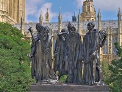 Auguste Rodin: Los burgueses de Calais. 1884-1886. Londres. Jardines del Parlamento
