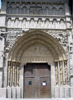 Portada de la iglesia de Santa María la Real. Sangüesa (Navarra)