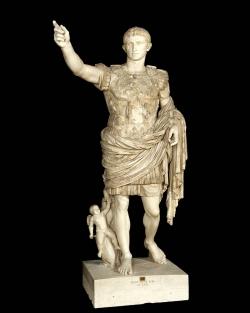 Augusto de Prima Porta. Siglo I d.C. Roma. Museo del Vaticano