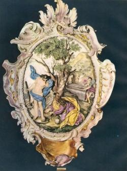 Cristo y la Magdalena. Porcelana del Buen Retiro. Siglo XVIII. Madrid. Museo de Artes Decorativas