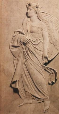 FIGURA 6. Agostino di Duccio: La Filosofía. 1455-1460. Rimini. Templo Malatestiano