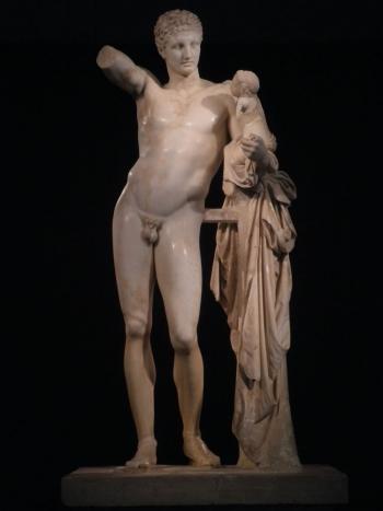 Praxiteles: Hermes. Siglo IV. Olimpia.