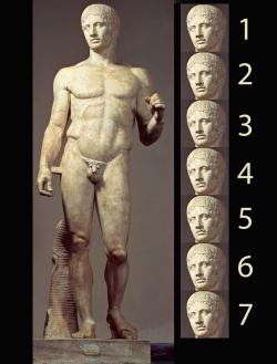 Policleto: Doríforo. Mediados siglo V a.C. Nápoles. Museo