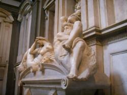 Miguel Ángel: Tumba de Lorenzo. Hacia 1525. Florencia. Capilla de los Médicis