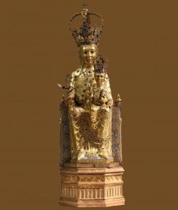 METALES NOBLES. Virgen de la Vega. Siglo XII. Catedral Vieja. Salamanca.