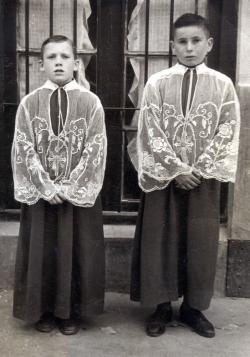 D. Ignacio Moliné y D. Rafael Pérez en 1957