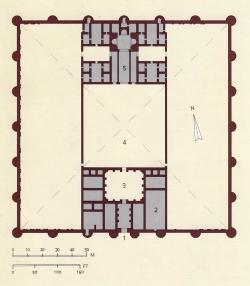 Los Palacios de los Omeyas. Mshatta. Figura 13: a ejemplo del campamento romano