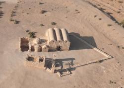 Los Palacios de los Omeyas. Kusayr Amra. Figura 7: la apariencia de un bunker