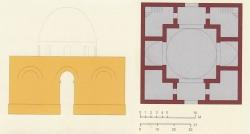 Los Palacios de los Omeyas. Kasr Amman. Figura 21: palacio cruciforme
