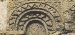 Los Palacios de los Omeyas. Kasr Amman. Figura 25: una decoración rústica