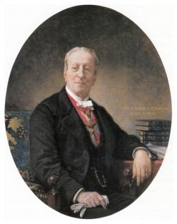 Federico de Madrazo y Kuntz: Retrato de Ángel Saavedra y Ramírez de Baquedano, primer duque de Rivas, 1881-1882