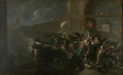 Leonardo Alenza: La muerte de Daoíz en el Parque de Artillería de Monteleón, 1835
