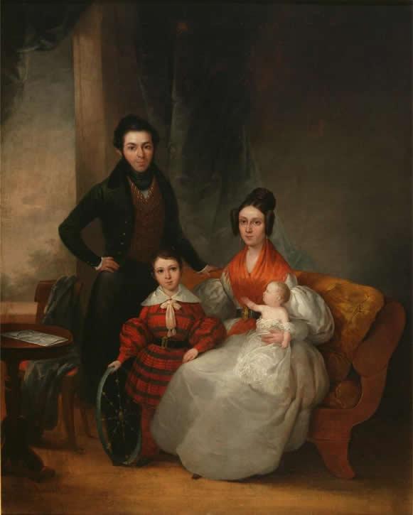 Retrato de la familia de don Cayetano Fuentes, sastre de palacio, 1837